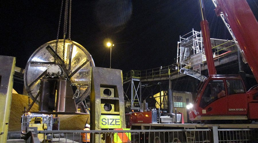 Project management of disc refurbishment during planned plant shutdown