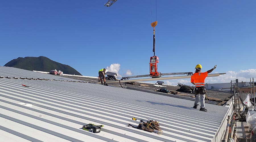 Factory roof project cooridnation