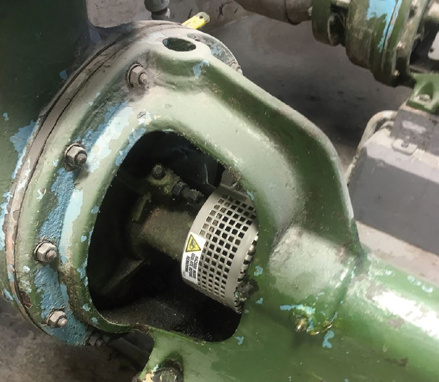Pump shaft safety guard manufactured
