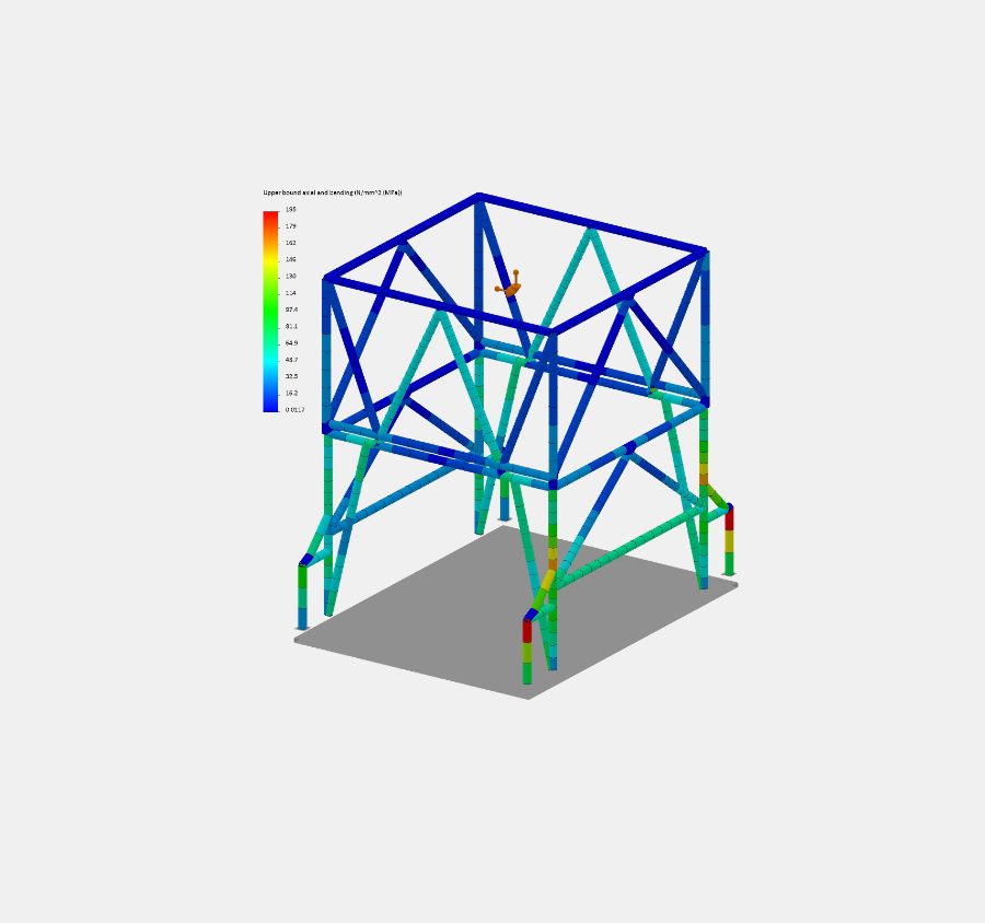 Port hopper FEA analysis for engineering project