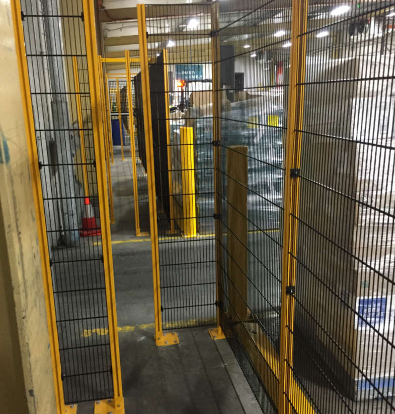Safety walkway in warehouse loading bay